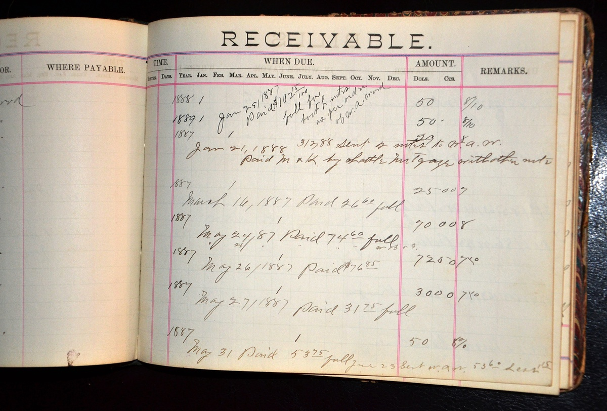 Bills Payable Bills Receivable 1880s Account Books from Cold – Bill Receivables