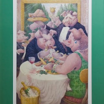 """Piggies"" print - 1986 - Music"