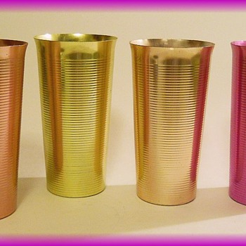 Vintage WEST BEND ( or WESTBEND) Tumblers Anodized Colored Aluminum