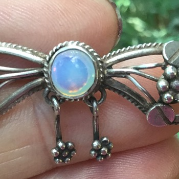 Helen Holmes Silver and Moonstone Brooch