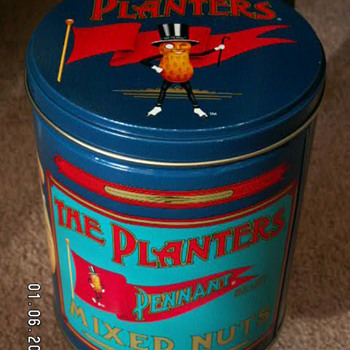 1989 The Planters Pennant Mixed Nuts Tin - Advertising