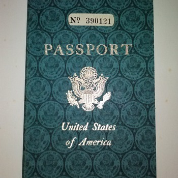 "PASSPORT OF LUCILLE M. BELL, WIFE OF LAWRENCE ""LARRY"" DALE BELL, FOUNDER OF BELL AIRCRAFT COMPANY - Advertising"