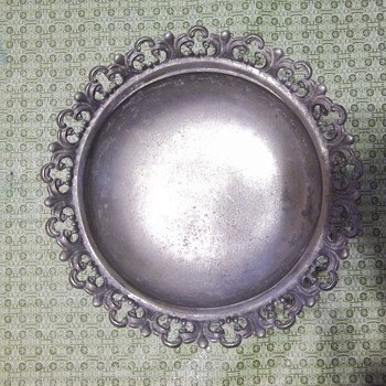 Mystery Pewter Footed bowl