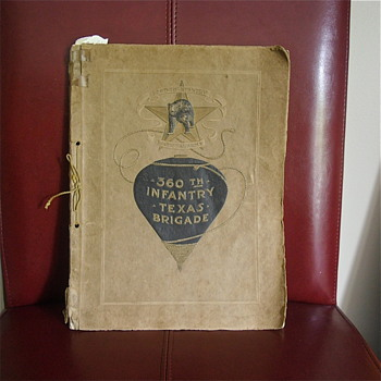 "Grandfather's WW1 Bootcamp book, 360th Infantry, ""F"" Co. Texas Brigade, 90th Div."