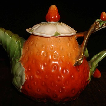 Fine Porcelain Strawberry Teapot