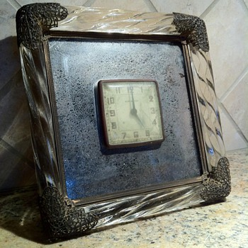 Victorian Crystal & Brass Framed Mirrored Clock