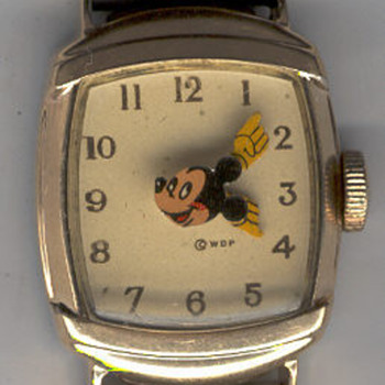"1946 ""Kelton"" Mickey mouse wristwatch - Wristwatches"