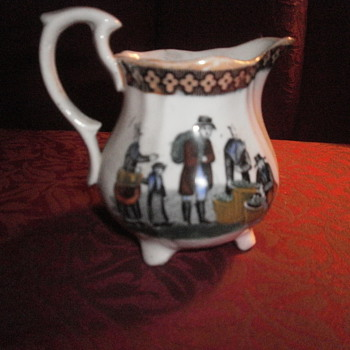 SMALL CHINA OR PORCELAIN CREAMER 3-3 1/2 ""