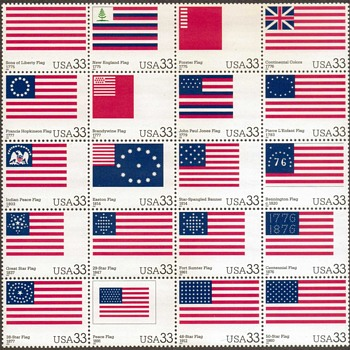 "2000 - ""U.S. Flag Day Issue"" Postage Stamps Pane"