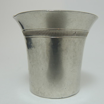 Just Andersen Tea Cup? Pewter 1928