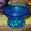 Blue Glass Candleholder