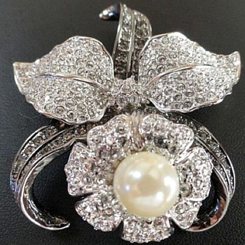 Fantastic Nolan Miller Orchid Brooch - Costume Jewelry