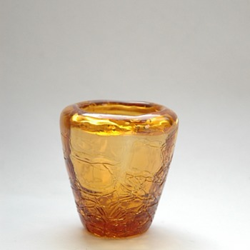 a small LOETZ amber crackle vase?
