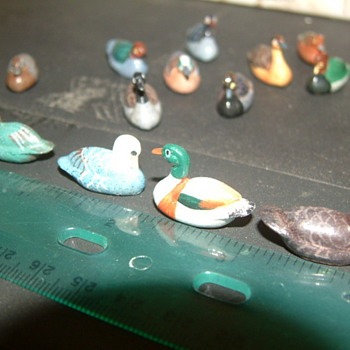 Micro sized decoys...... Found in grandparents attic. - Folk Art