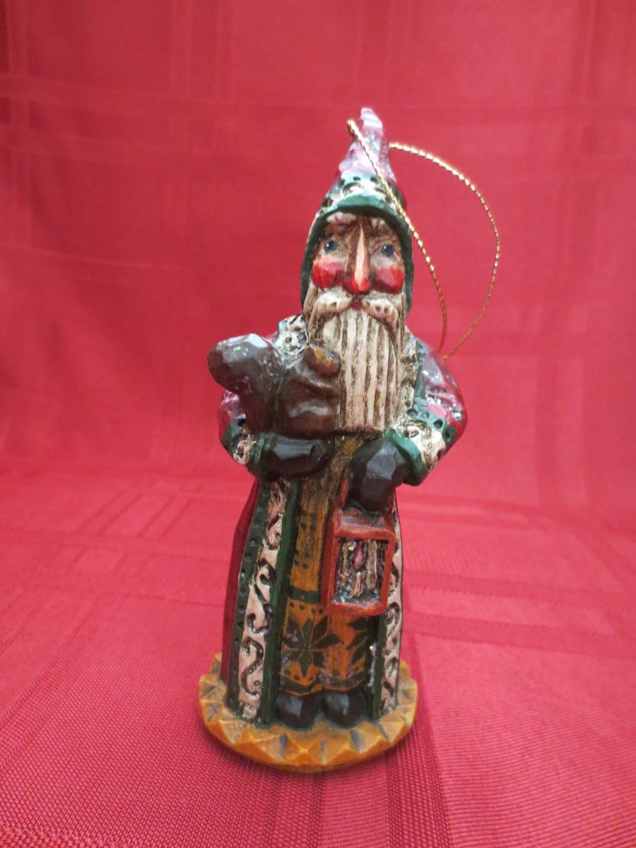 carved wood Santa ornament   Collectors Weekly