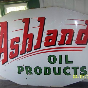 ashland oil sign - Petroliana