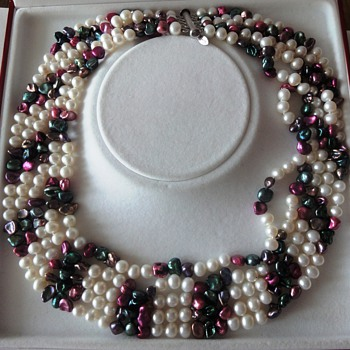 Five Row Sweet Water pearl necklace