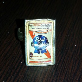 Vintage Pabst Blue Ribbon Ring