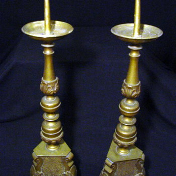 Brass  Made in Sweden Candle Holders