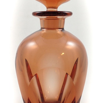 "Moser Rosalin Liquor Bottle, ""Bar"", ca. 1934, R. Eschler design, Prod Nr. 16 020"