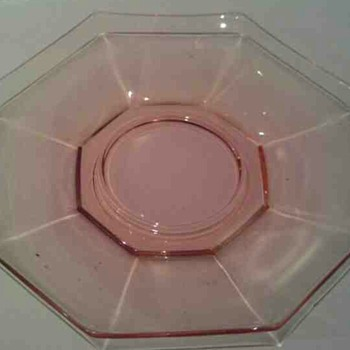 Here I Have A Heisey Pink Flamingo 5 1/2 inch saucer - Glassware