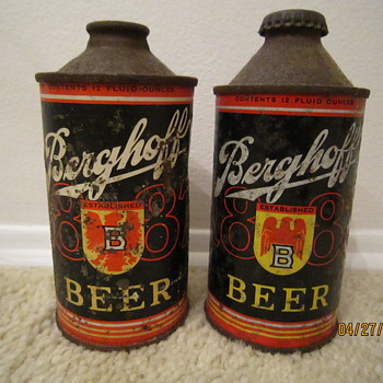 Berghoff Beer can variations caused by World War II....
