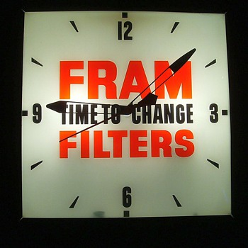 FRAM FILTER CLOCK - PERFECT