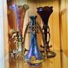 Trio of Bohemian Mounted Vases (Kralik,Rindskopf,Rindskopf?)
