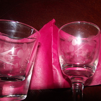 wine glasses and shot glasses - Glassware