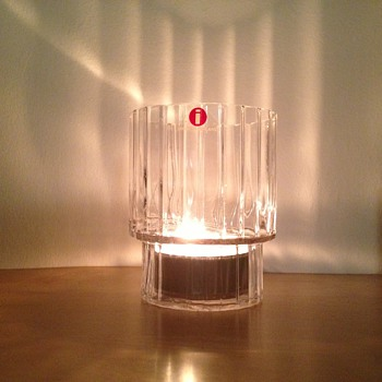 Iittala stepped glass candle holder / tumbler ? - Art Glass