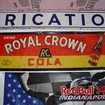 1930's Royal Crown Cola Tin Sign - Signs