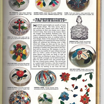PAPERWEIGHTS AD FROM WOMAN'S DAY MAGAZINE.GLASS  BY NICOLAS LUTZ