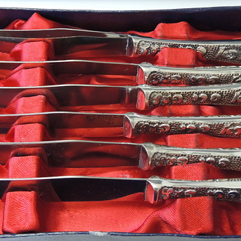 Souvenir Knife Set - Israel - Silverplated & Stainless Steel
