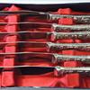 Souvenir Knife Set - Israel - Silverplated & Stainless Steel