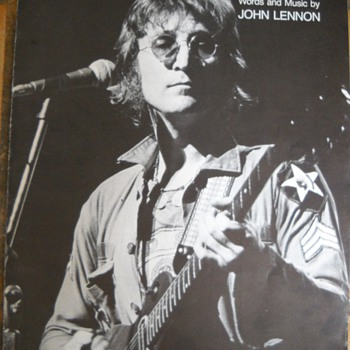"1971 JOHN LENNON "" IMAGINE""  SHEET MUSIC - Music"