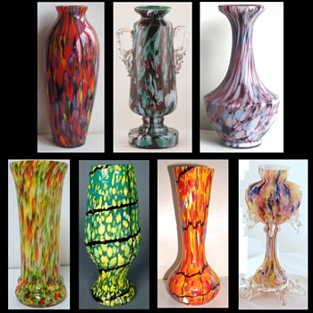 Czech Spatter Décors – Completely Random, or Controlled and Contrived Chaos? - Art Glass