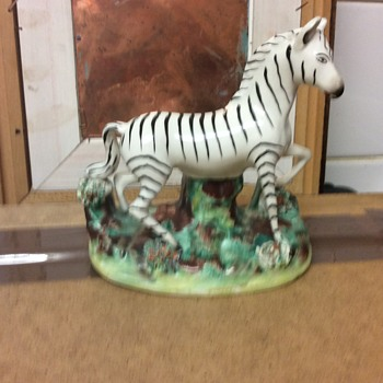 Staffordshire zebra figure rare model 1820-30