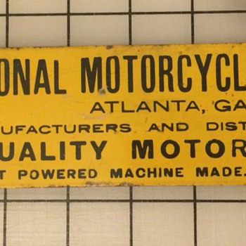 National Motor Cycle Sign - Signs