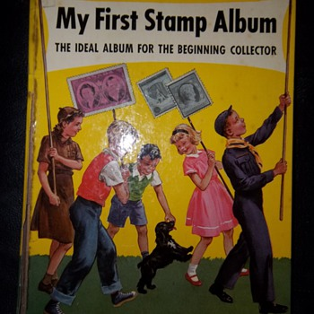 My first stamp album - full of stamps! - Stamps