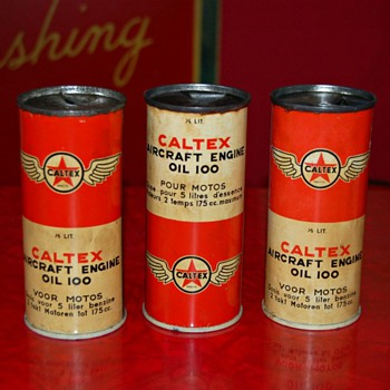 caltex oil cans - Petroliana