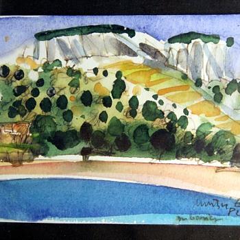 Post Impressionist Watercolor Sketch - Visual Art