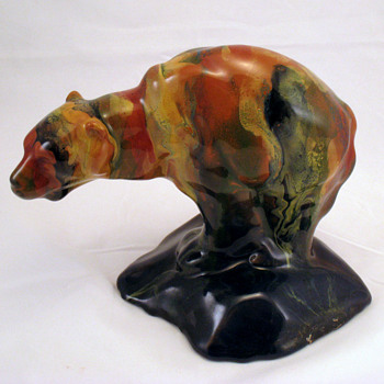RABADE Art pottery drip glaze bear - Who is RABADE????