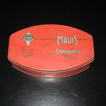 Mavis chocolate tin