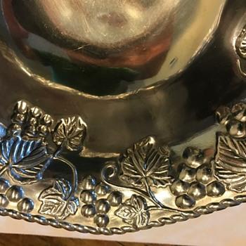 Lenox silver metal bowl
