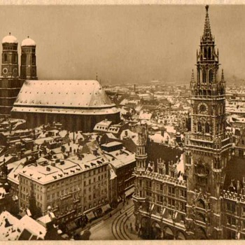 Early Photo Card of Marienplatz Munich Germany