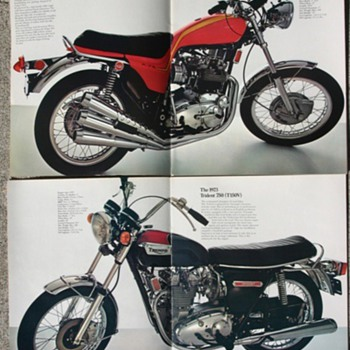 Triumph Motorcycles 1973 sales brochure - Motorcycles