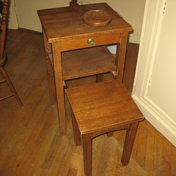 Old Telephone Table with built in Seat - Furniture