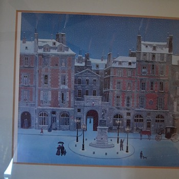 Michael Delacroix  Signed Litho with certificate of Authen