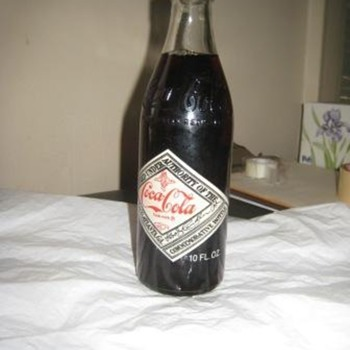 75 year commemorative Coke bottle - Coca-Cola