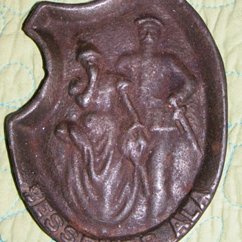 Bessemer, Alabama Cast Iron Piece with Southern Belle and Gentleman? - Victorian Era